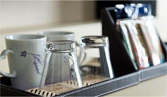 紅茶とコーヒーをご用意